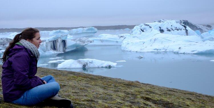 cecile icebergs islande
